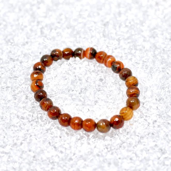 Agate (Dream) 8mm Faceted Bracelet - BOGO