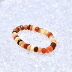 Fire Opal Faceted Rondell Bracelet - BOGO