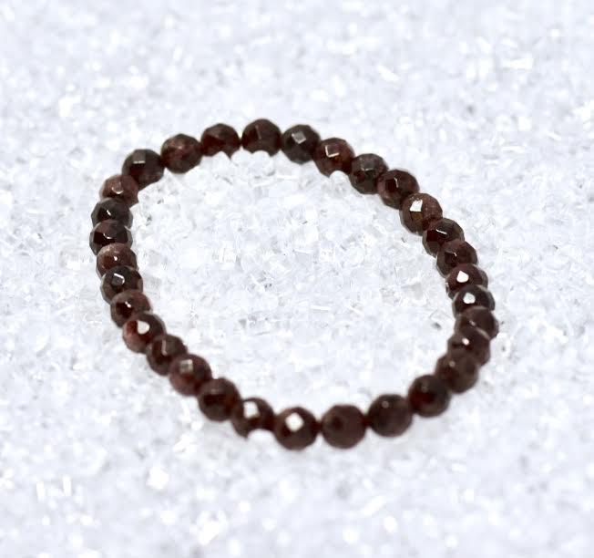 Garnet Faceted 6mm Bracelet - BOGO