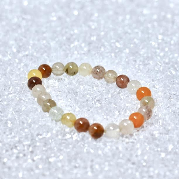 Rutilated Quartz 8mm Bracelet - BOGO