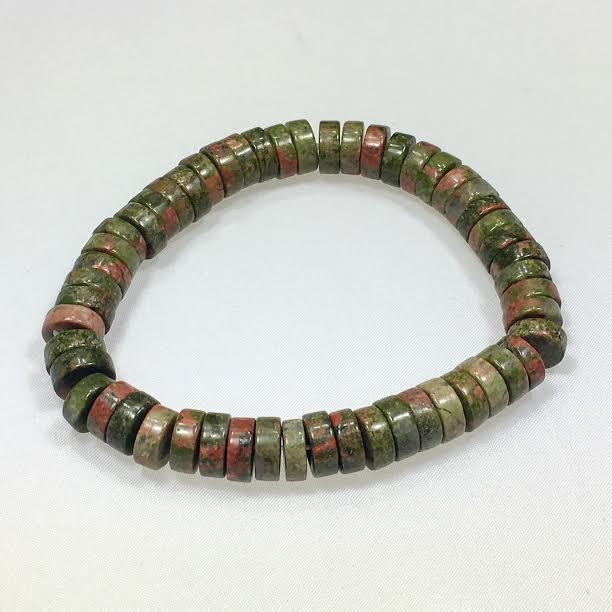 Unakite Heishi Bracelet - BOGO