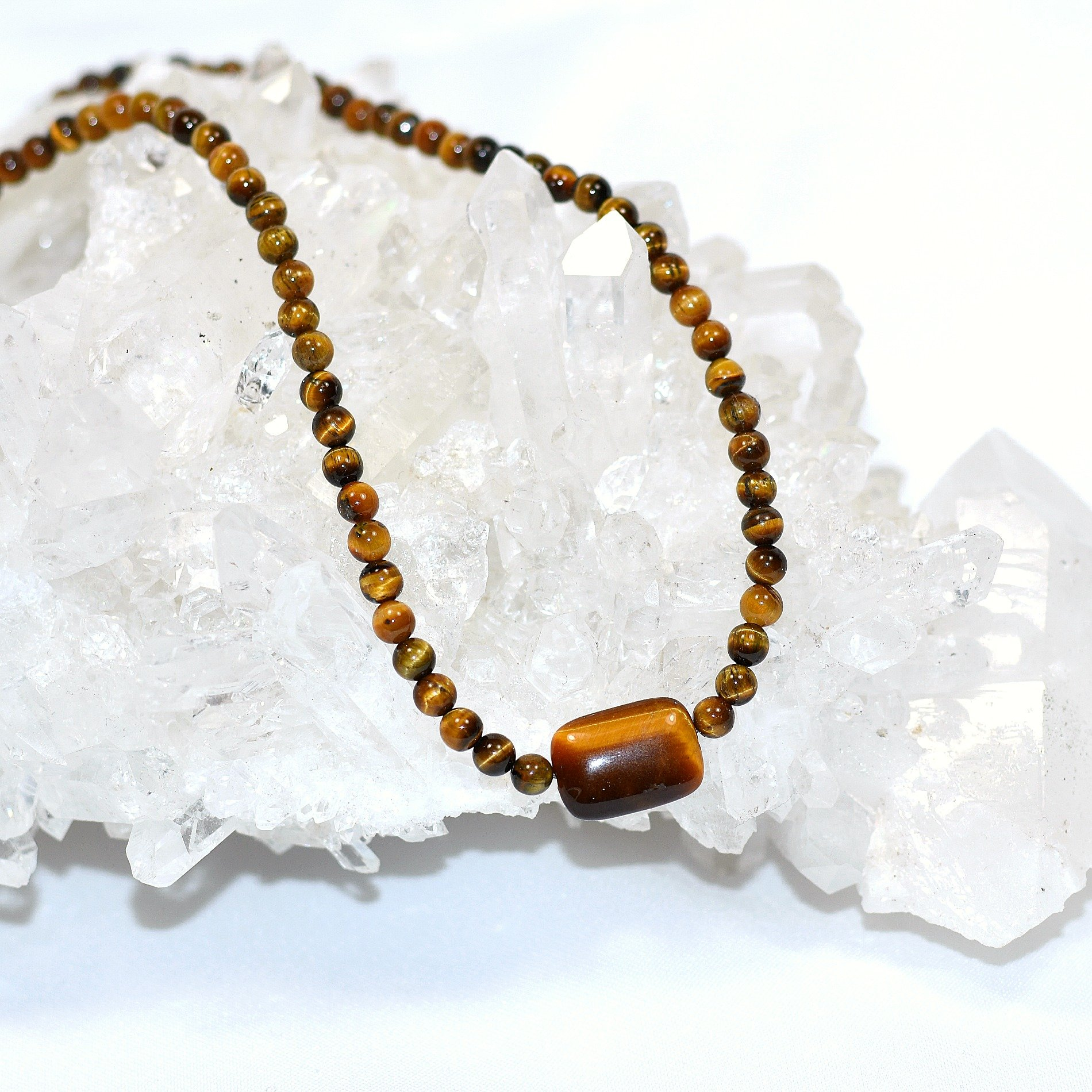 sf epages long en necklace tiger eye ml bead tigers gb